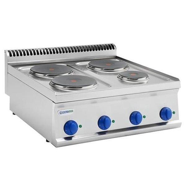 Kuchnia 4-płytowa nastawna moc: 9,3kW (400V) | Soda Pluss 460080003