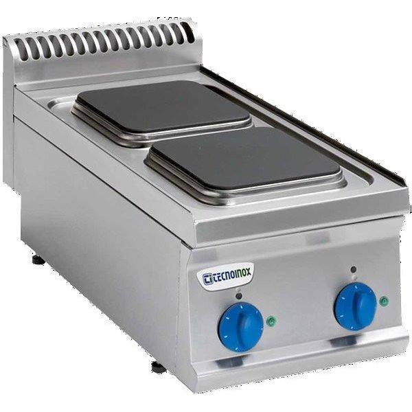 Kuchnia 2-płytowa nastawa moc: 5,2kW (400V) kwadratowe | Soda Pluss 460080006