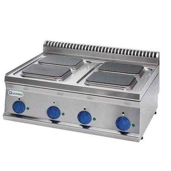 Kuchnia 4-płytowa nastawa moc: 10,4kW (400V) kwadratowe | Soda Pluss 460080007
