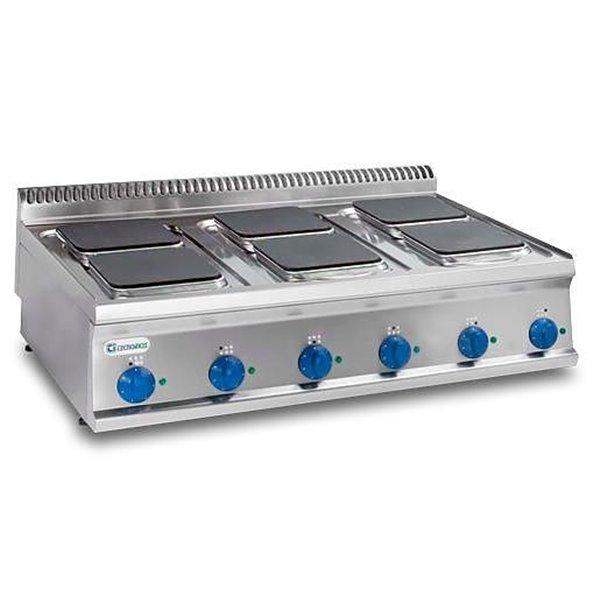 Kuchnia 6-płytowa nastawa moc: 15,6kW (400V) kwadratowe | Soda Pluss 460080008