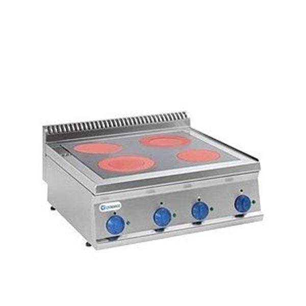 Kuchnia 4-strefowa nastawna moc: 8,6kW (400V) | Soda Pluss 460080010