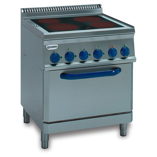 Kuchnia 4-strefowa z piekarnikiem elektr. GN2/1 moc: 13,3kW (400kW) | Soda Pluss 460080011