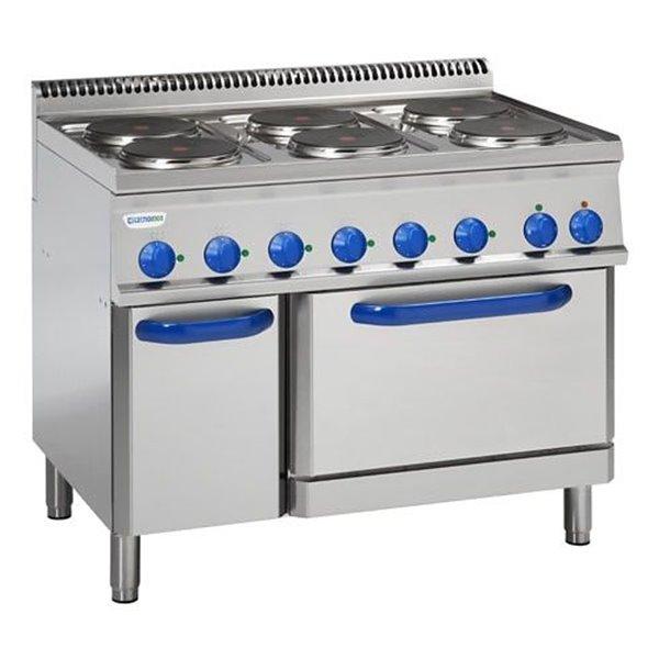 Kuchnia elekt 6-płytowa z piekarnikiem elektrycznym GN 2/1 moc: 20,3kW | Soda Pluss 460080078