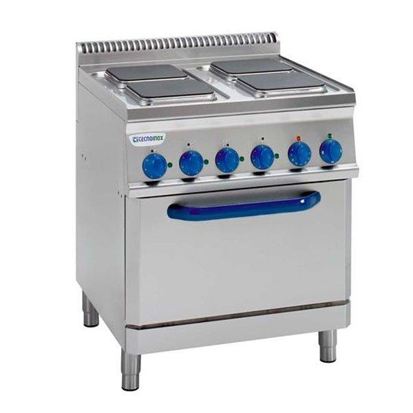 Kuchnia elekt. 4-płytowa z piek. elekt. went GN1/1 (kwadratowe) moc:15,1kW | Soda Pluss 460080083
