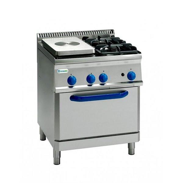 Kuchnia 2-palnikowa z płytą grzewczą i piek. gaz. moc: 22kW GN2/1 | Soda Pluss 460080029