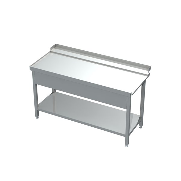 Stół załadowczy ze zlewem i półką eko 05 61 1600X760X850 | Plastmet
