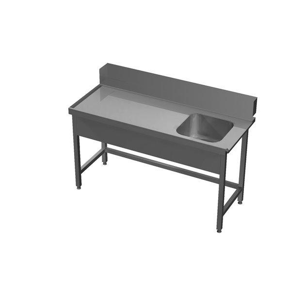Stół załadowczy ze zlewem bez półki eko 05 62 1000X700X850 | Plastmet