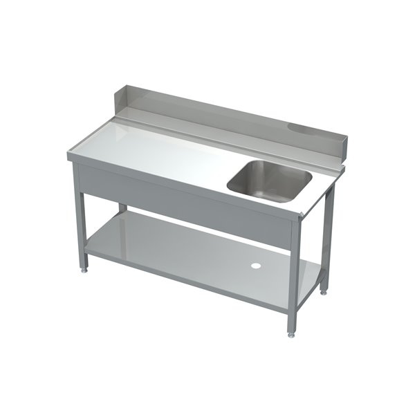 Stół załadowczy ze zlewem i półką eko 05 60 1200X760X850 | Plastmet