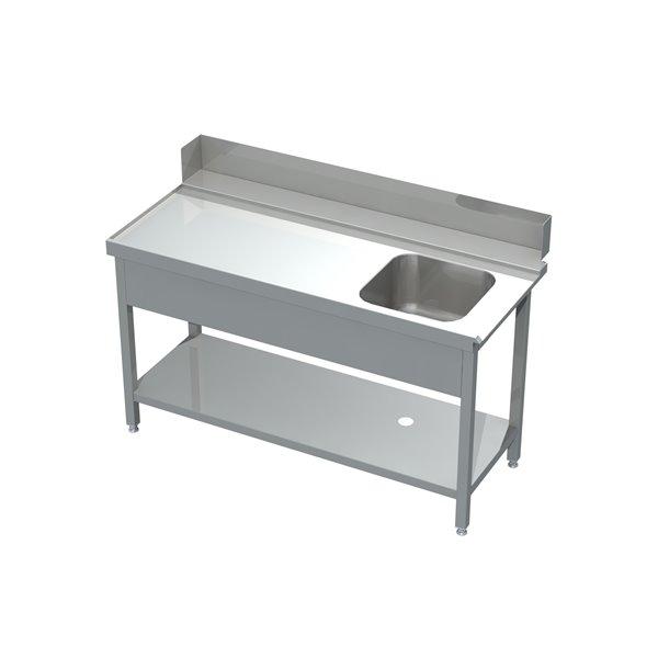 Stół załadowczy ze zlewem i półką eko 05 60 1300X760X850 | Plastmet