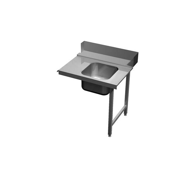 Stół załadowczy ze zlewem na dwóch nogach eko 05 64 700X700X850 | Plastmet