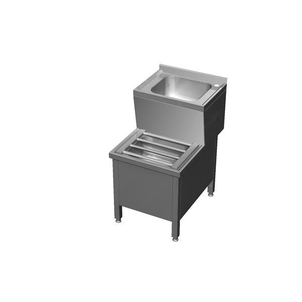 Umywalka porządkowa 2-poziomowa  eko 05 72 500X700X850 | Plastmet