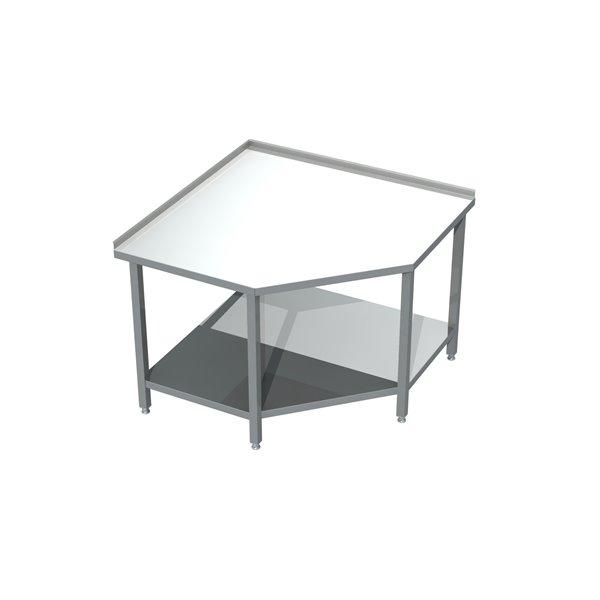 Stół narożny z półką eko 04 04 600X600X850   Plastmet