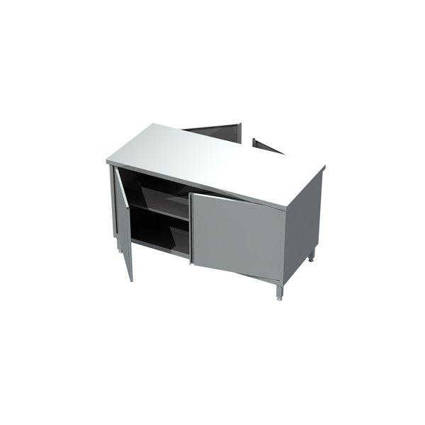 Stół z szafką przelotową drzwi otwierane eko 04 11 1400X600X850   Plastmet