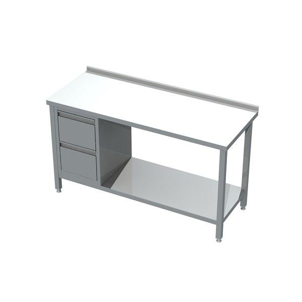 Stół z blokiem 2 szuflad i półką eko 04 21 1000X700X850   Plastmet