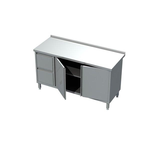 Stół-szafka drzwi otwierane z blokiem 2 szuflad eko 04 23 1400X700X850   Plastmet