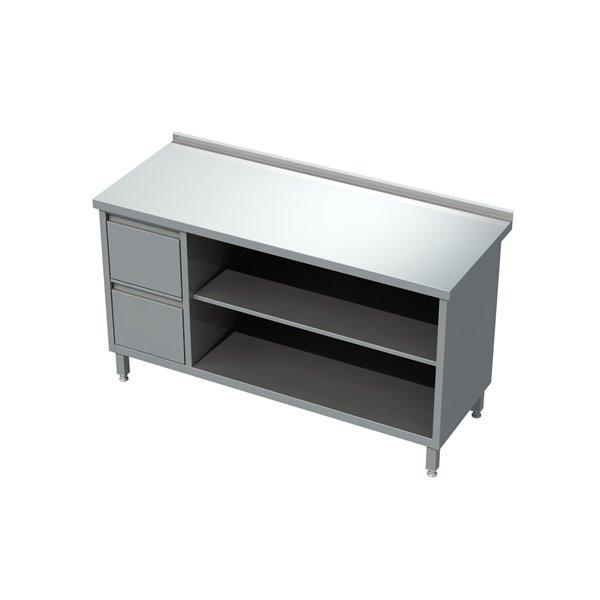 Stół-szafka otwarta z półką i blokiem 2 szuflad eko 04 22 1400X600X850   Plastmet