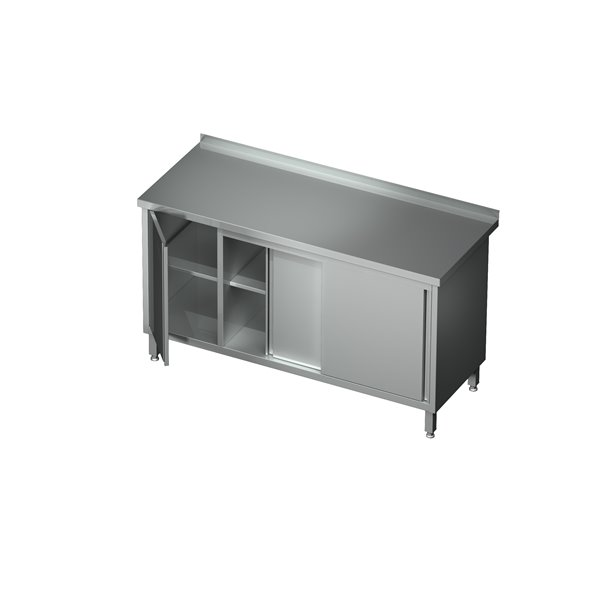 Stół-szafka drzwi suwane z szafką eko 04 44 1400X600X850   Plastmet