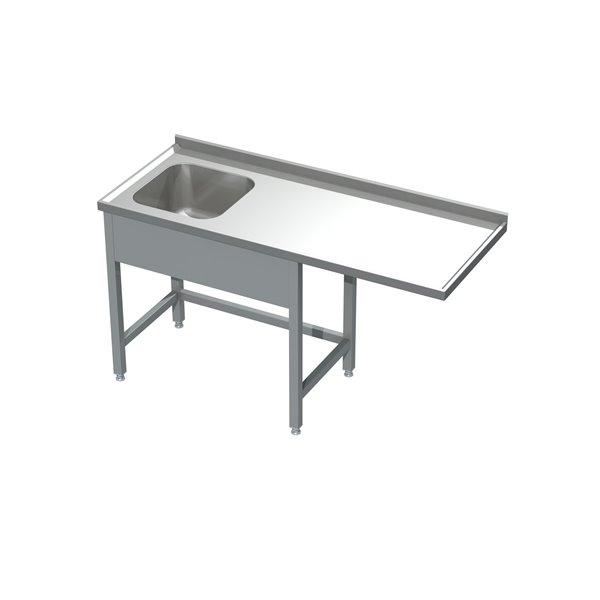 Stół ze zlewem i miejscem na zmywarkę  eko 05 15 1500X600X850 | Plastmet