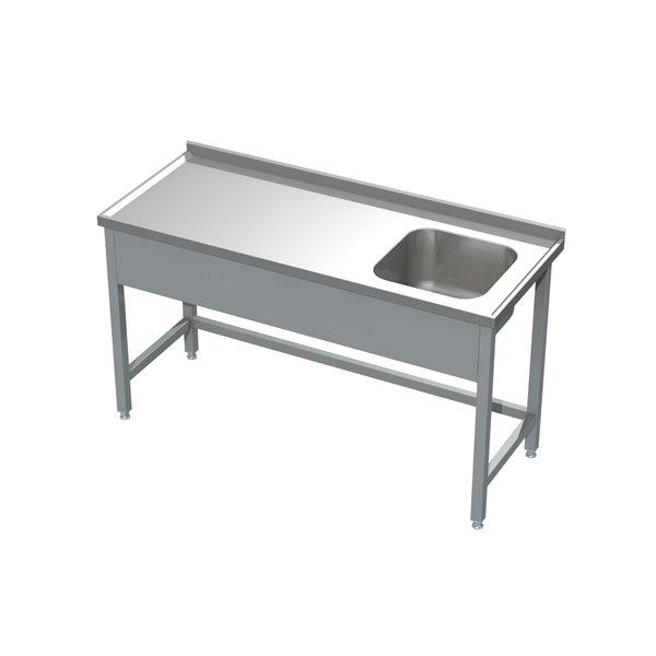 Stół ze zlewem eko 05 00 800X600X850 | Plastmet