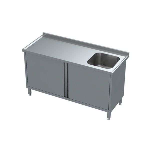 Stół-szafka drzwi otwierane ze zlewem eko 05 04 800X600X850 | Plastmet