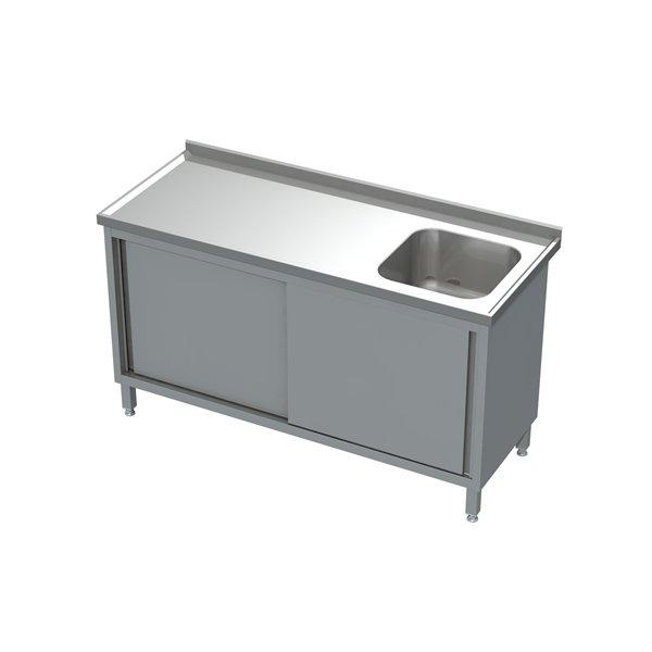 Stół-szafka drzwi suwane ze zlewem  eko 05 05 1600X700X850 | Plastmet