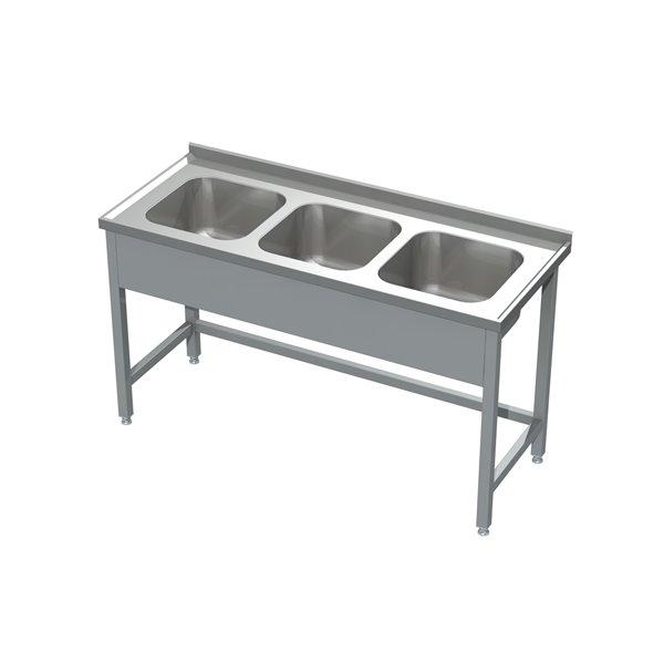 Stół ze zlewem 3-komorowym eko 05 30 1600X600X850   Plastmet