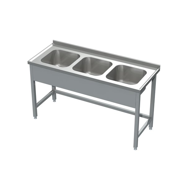Stół ze zlewem 3-komorowym eko 05 30 1900X600X850   Plastmet