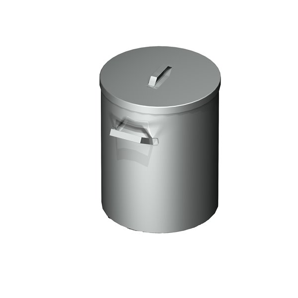 Pojemnik na odpadki okrągły bez kół  eko 07 15 bk 375XX390 | Plastmet